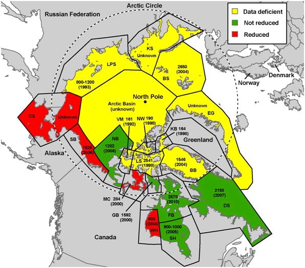 Map Of Polar Bear Tidal Treasures - Map of where polar bears live